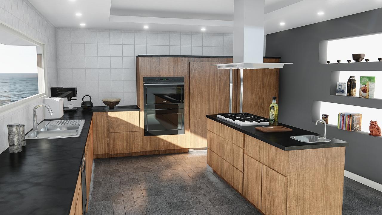 kitchen, design, modern